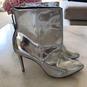SCHUTZ silver metallic bootie